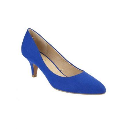 Lotus Clio Cobalt Blue Micro-Fibre Heels