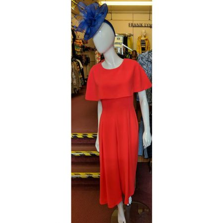 Ella Boo Coral Red Cape Jumpsuit