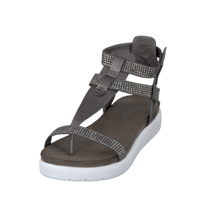 Bugatti Dark Grey Flatform Sandals