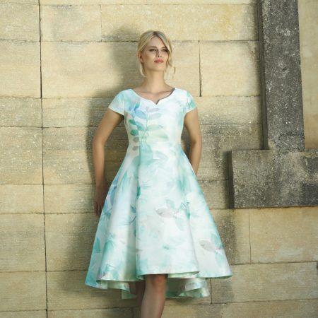 Lizabella Blue Pastel Floral Dress Set