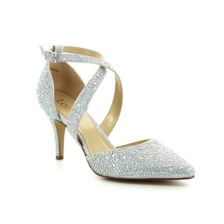 Lotus Star Silver Diamante Statement Heels