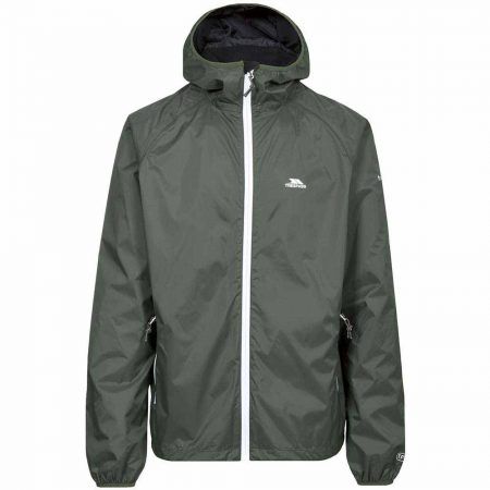 Trespass Thyme Green Rocco Waterproof Jacket