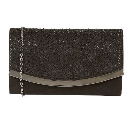 Lotus Bisante Black Micro-Fibre Evening Bag