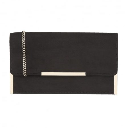 Lotus Flamina Black Micro-Fibre Evening Bag