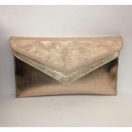 Capollini Elisse Rose Gold Leather Evening Bag