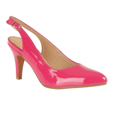 Lotus Nadia Bright Pink Patent Heels