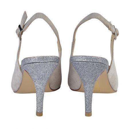 Lotus Arlind Grey Pewter Glitter Heels