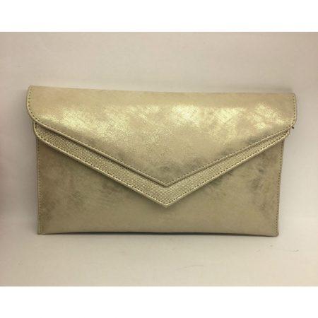 Capollini Luanne Platino Leather Evening Bag