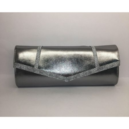 Capollini Lynette Metallic Pewter Evening Bag