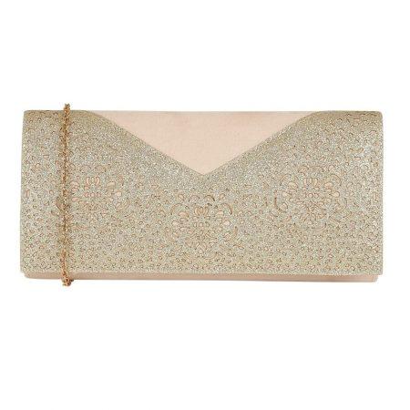 Lotus Fidda Natural Gold Glitter Evening Bag