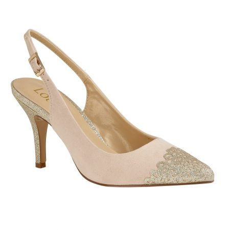Lotus Arlind Natural Gold Glitter Heels