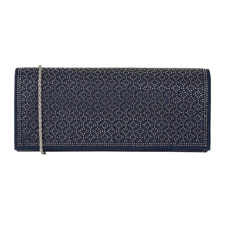 Lotus Tadine Navy Patent Evening Bag