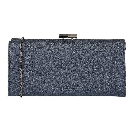 Lotus Vibe Navy Glitter Evening Bag