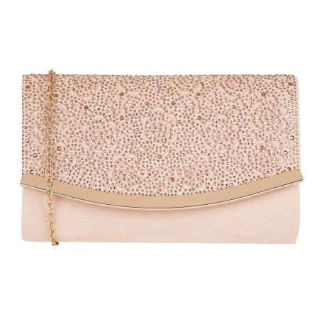 Lotus Bisante Nude Micro-Fibre Evening Bag