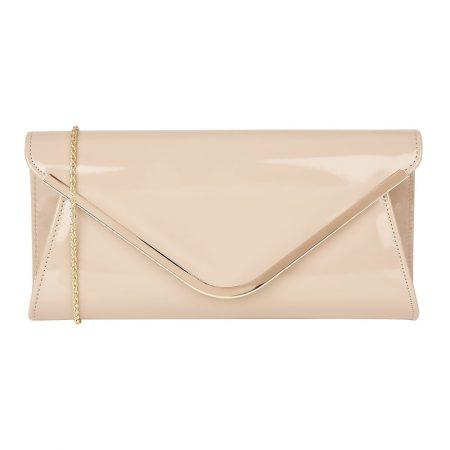 Lotus Sommerton Nude Patent Evening Bag