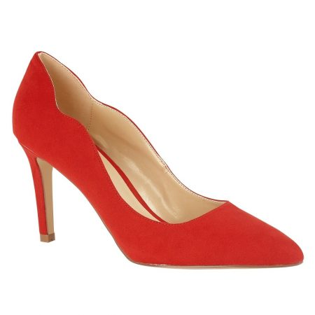 Lotus Tyler Red Micro-Fibre Heels