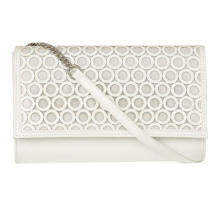 Lotus Solana White Patent Evening Bag