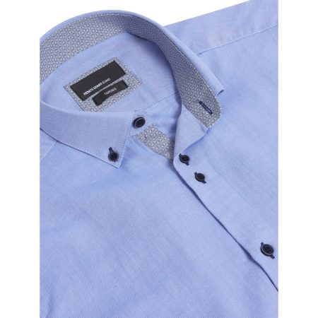 Remus Uomo Blue Long Sleeve Casual Shirt