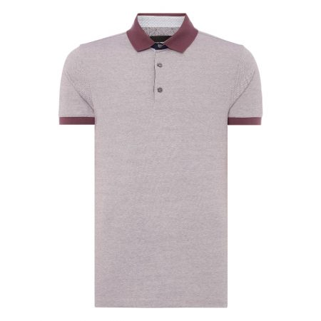 Remus Uomo Purple Tapered Fit Polo Shirt