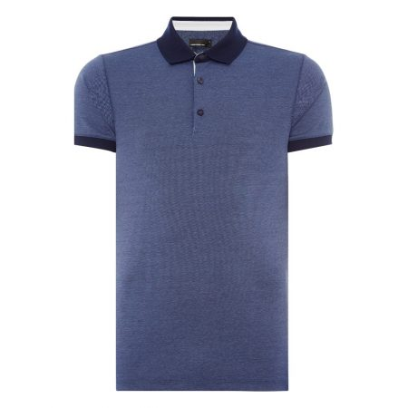 Remus Uomo Navy Tapered Fit Polo Shirt