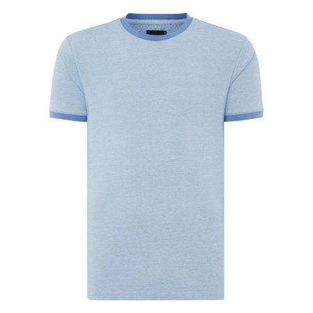 Remus Uomo Sky Blue Slim Fit T-Shirt