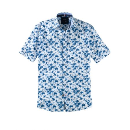 Olymp patterned short sleeve shirt