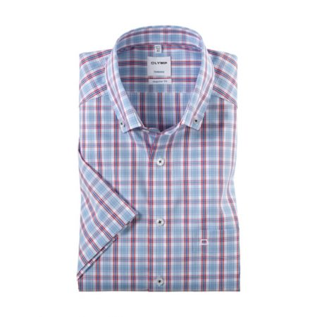 Olymp check short sleeve shirt