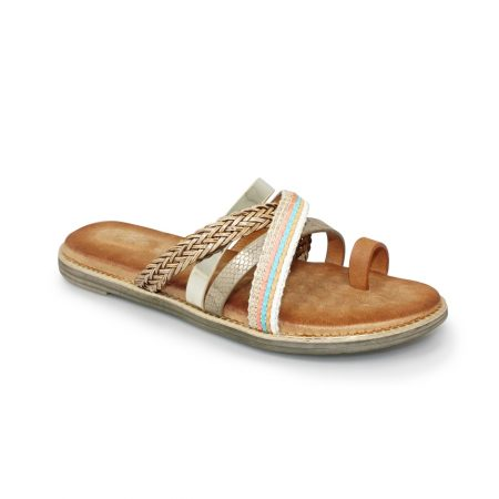 Lunar Ambre Tan Toe Loop Sandals