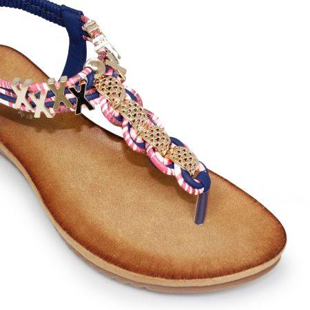 Lunar Antigua Navy Toe Post Sandals