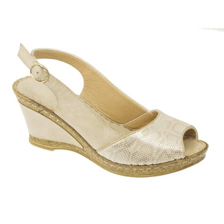Lunar Barnes Beige Wedge Sandals