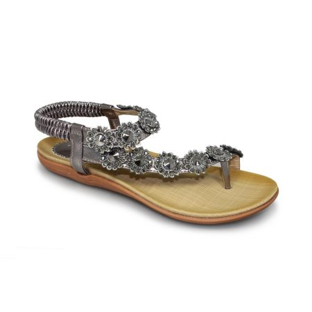 Lunar Charlotte Pewter Toe Post Sandals
