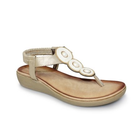 Lunar Cleo Gold Toe Post Sandals