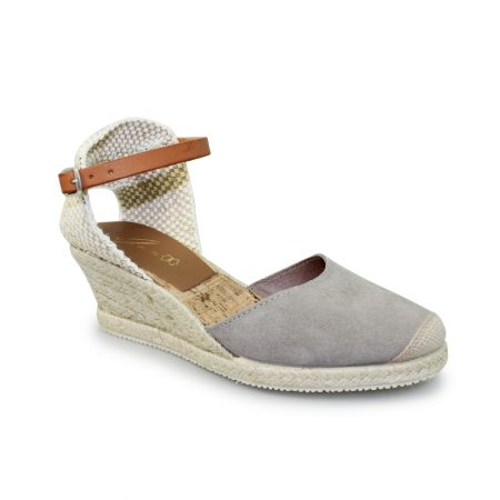 Lunar Jolie Grey Suede Wedge Sandals