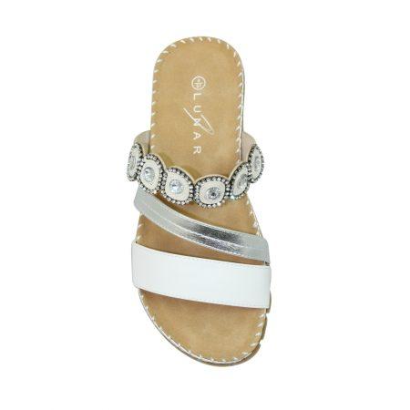 Lunar Belize White Comfort Sandals