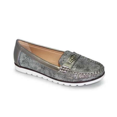 Lunar Sintra Metallic Pewter Loafer Shoes