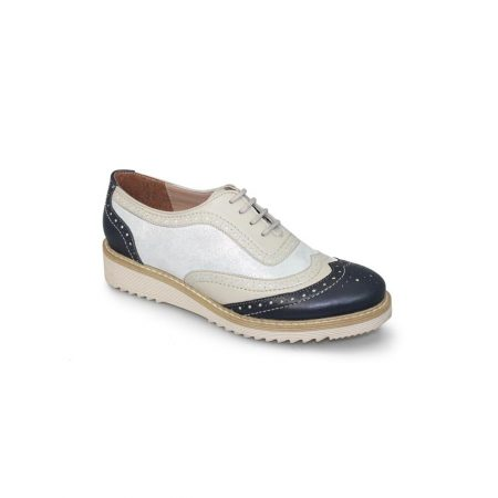Lunar Monroe Leather Wedge Brogues