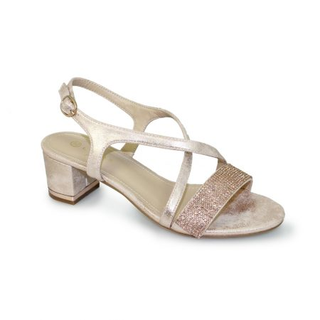 Lunar Monterey Rose Gold Heeled Sandals
