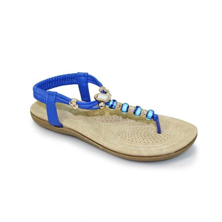 Lunar Murano Blue Toe Post Sandals