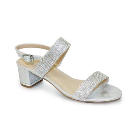 Lunar Murcia Silver Heeled Sandals