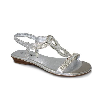 Lunar Samantha Metallic Silver Sandals