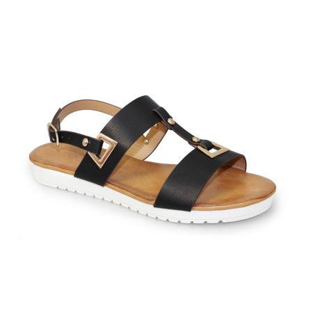 Lunar Saskia Black Flatform Sandals