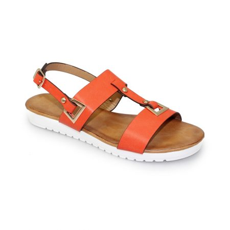 Lunar Saskia Orange Flatform Sandals