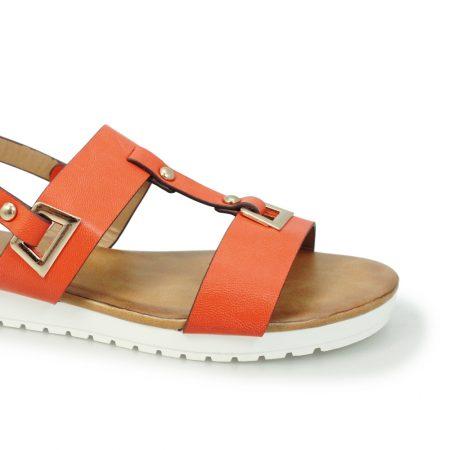 Lunar Saskia Orange Flatform Sandals