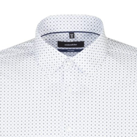 Seidensticker white tailored fit long sleeve shirt
