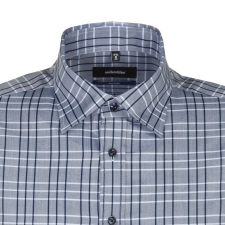 Seidensticker Blue check short sleeve shirt