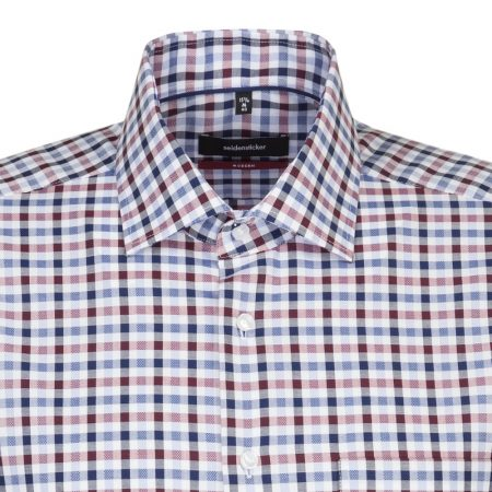 Seidensticker Blue & Red check short sleeve shirt