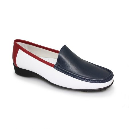 Lunar Tansy White Nautical Loafer Shoes