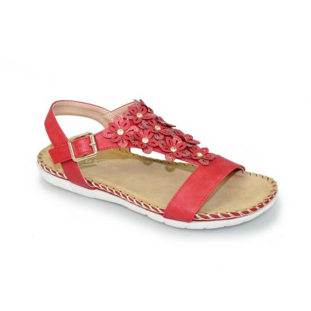 Lunar Temple Red Comfort Sandals