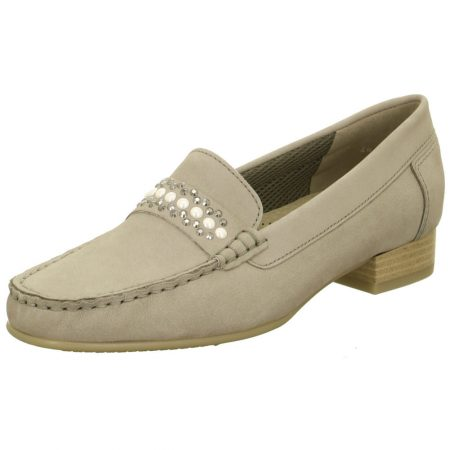 Jenny Ara Atlanta Pebble Grey Leather Loafers