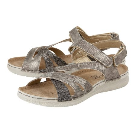 Lotus Sangallo Pewter Comfort Sandals